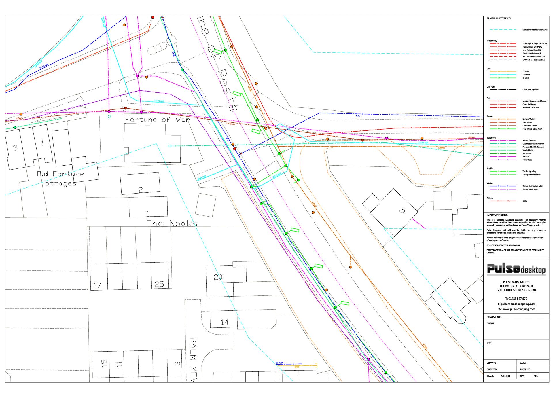 Desktop mapping of statutory asset records