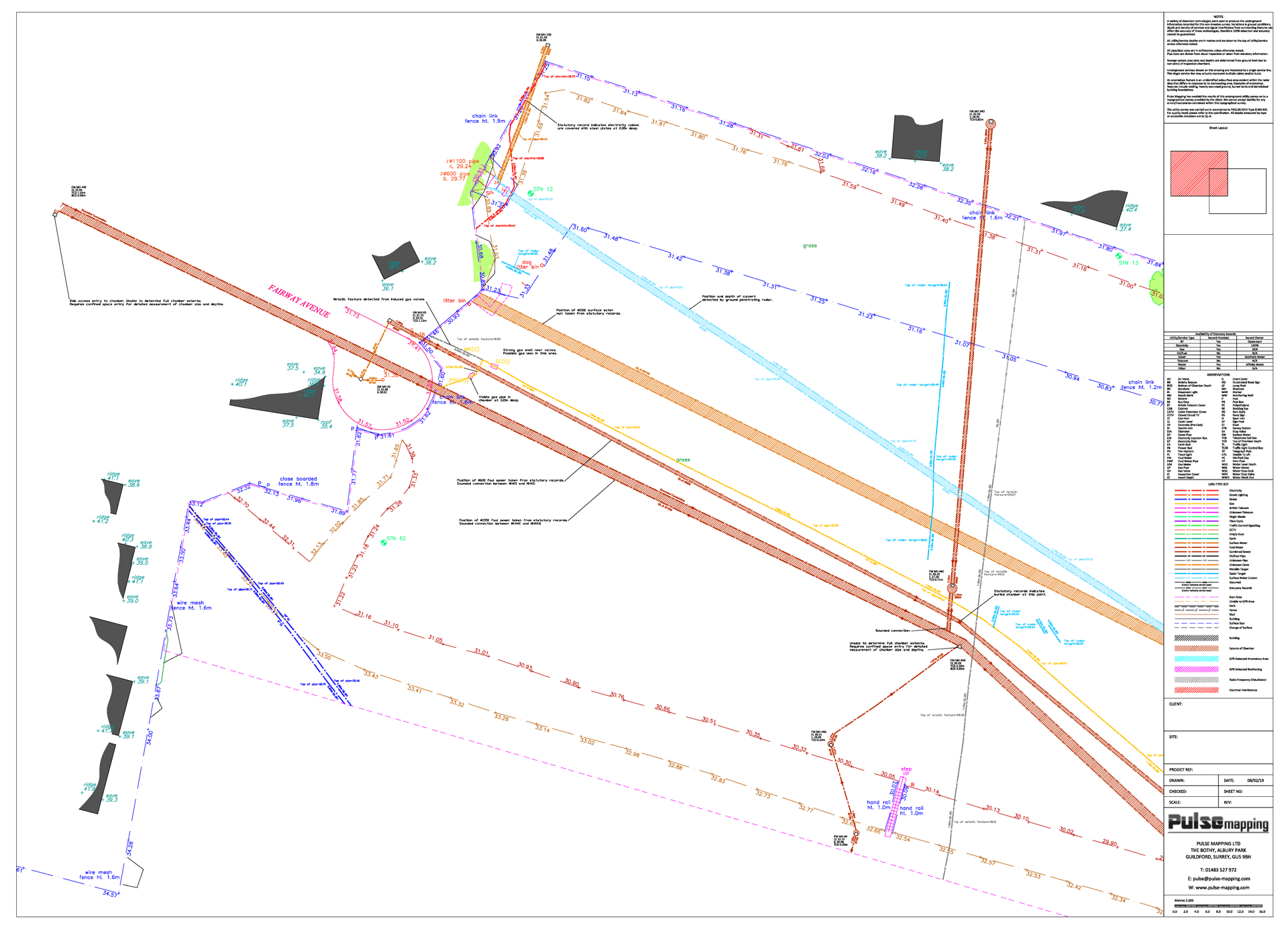 Detection of a culvert by ground penetrating radar