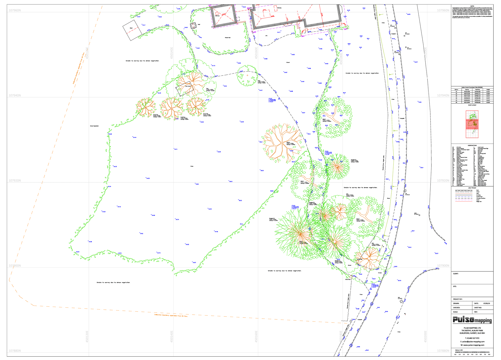 Topographic Survey of property and carriageway