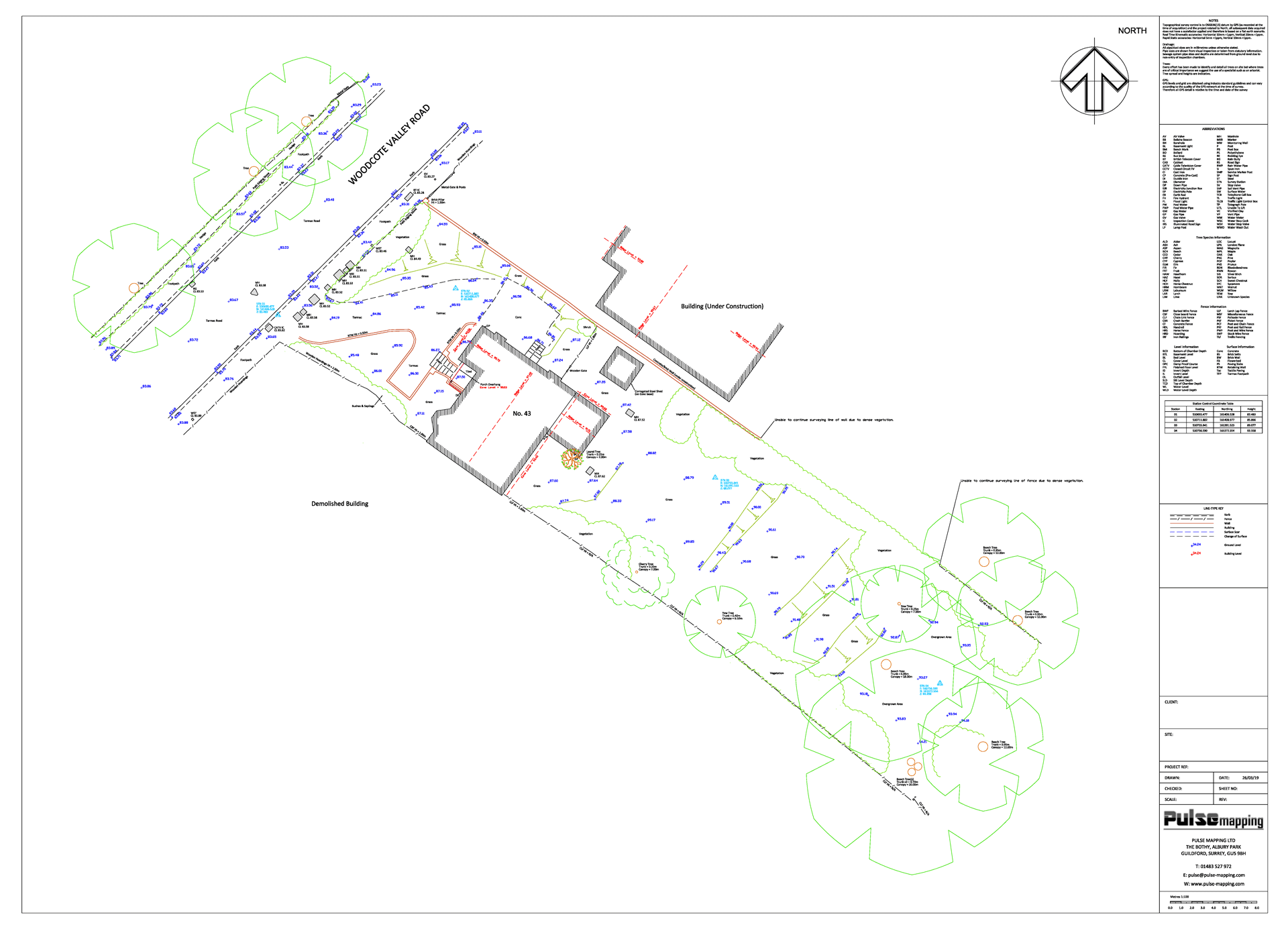 Topo survey of a residential property